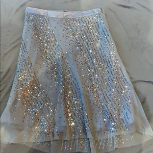 ABS Allen Schwartz silk skirt with sequins